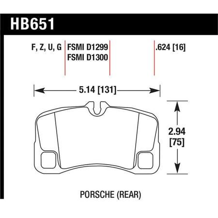 Hawk 07-08 Porsche 911 GT3/GT3 CUP / 08 911 GT2 / 07-08 911 Turbo Rear HPS Street Brake Pads