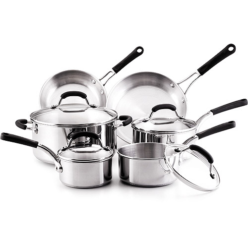 Farberware 10-Piece Professional Stainless Steel Cookware ...