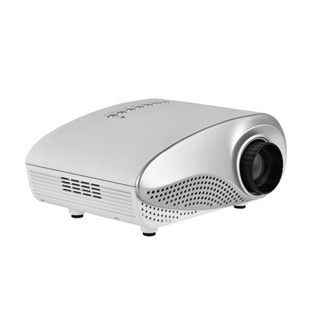 WALFRONT 1080P Mini Multimedia Home Theater Video LED Projector w/ AV/USB/VGA/HDMI/SD Slot, portable projector, mini projector