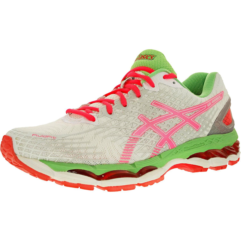 ASICS Asics Women's Gel Nimbus 17 WhiteHot CoralApple Ankle High Tennis Shoe 12.5M
