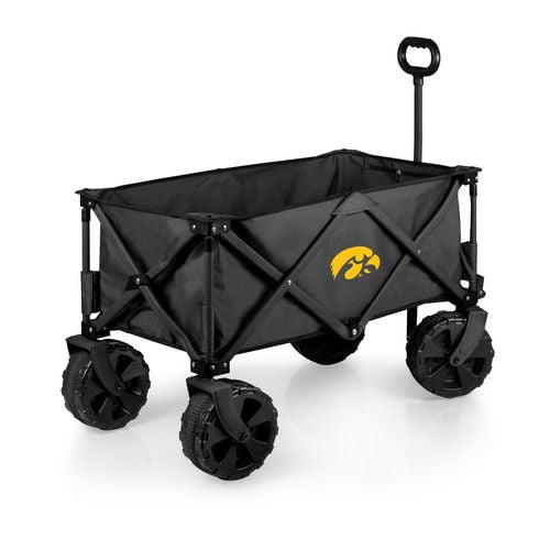 Charcoal Iowa Hawkeyes Adventure Wagon Elite All-Terrain Folding Utility Wagon