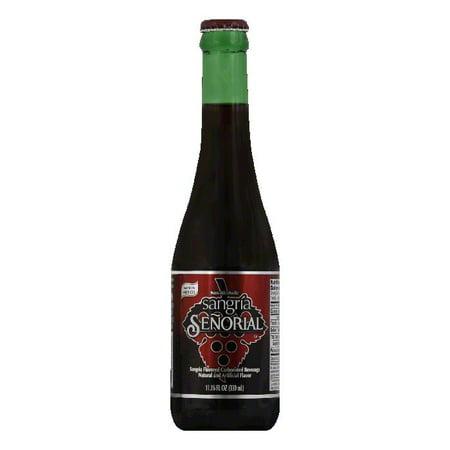 Senorial Sangria Flavored Carbonated Beverage  11 16 Oz  Pack Of 24