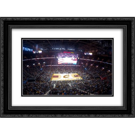 Quicken Loans Arena 2X Matted 24X18 Black Ornate Framed Art Print From The Stadium Series