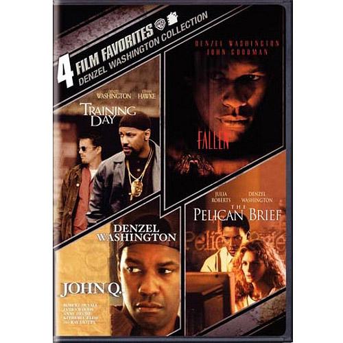 4 Film Favorites: Denzel Washington - Training Day / John Q / Fallen / The Pelican Brief (Widescreen)