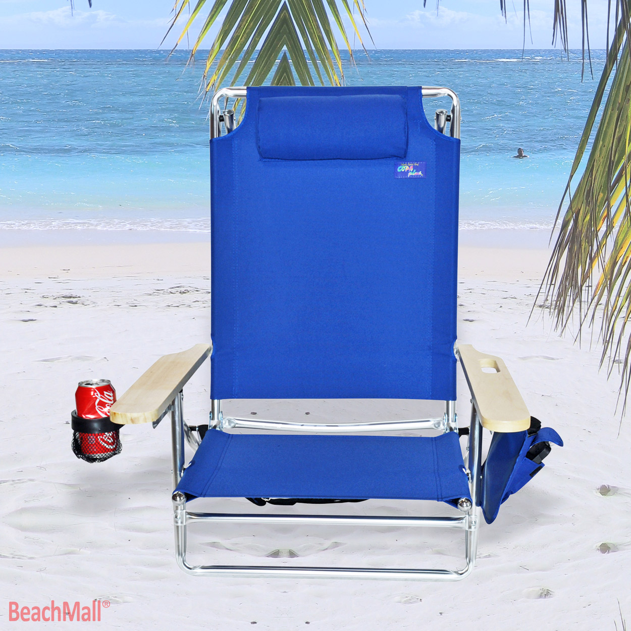 Beach chair back - 5 Position Platinum Lay Flat Beach Chair Extra Tall Back W Drink Holder Walmart Com
