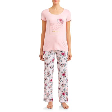 Women's and Women's Plus Short, Pant, and Sleep Top (3-Piece (Sleep Pants Pjs)