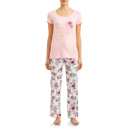 Women's and Women's Plus Short, Pant, and Sleep Top (3-Piece
