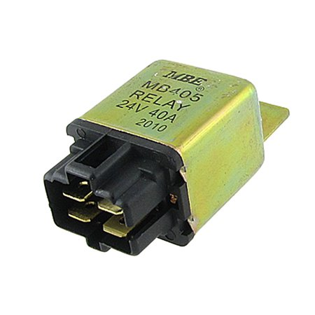 (Unique Bargains Metal Case 4 Blade Car Truck Relay 24V DC Coil 40A NO Contact)