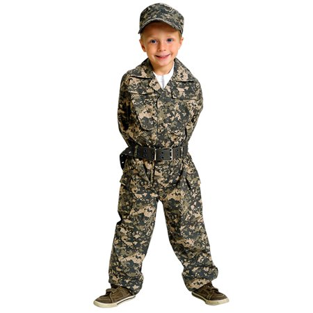 Aeromax Jr. Camouflage Suit with Cap and Belt, Size 4/6 - image 3 of 4