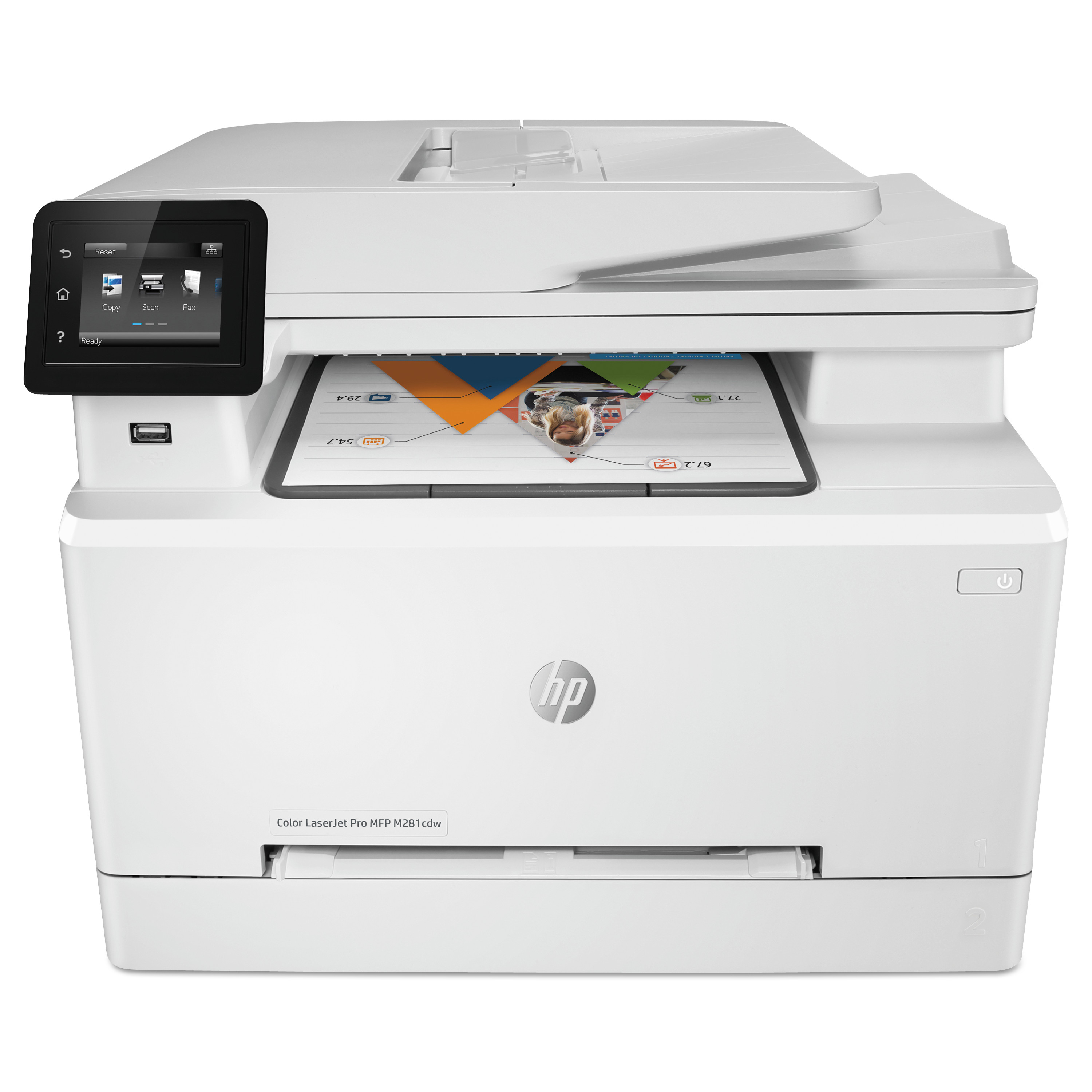 HP Color LaserJet Pro MFP M281fdw Multifunction Laser Printer, Copy/Fax/Print/Scan