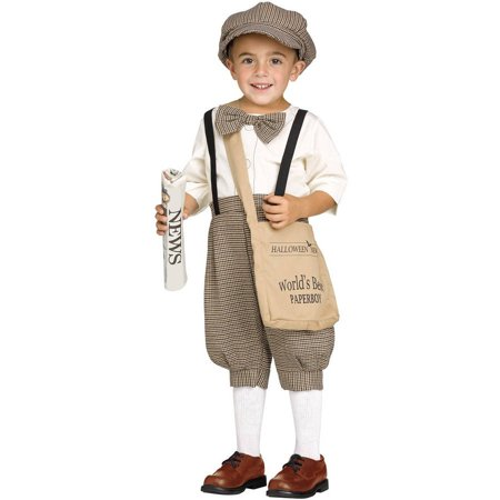 20e48acb29f4d Newsboy Toddler Halloween Costume - Walmart.com