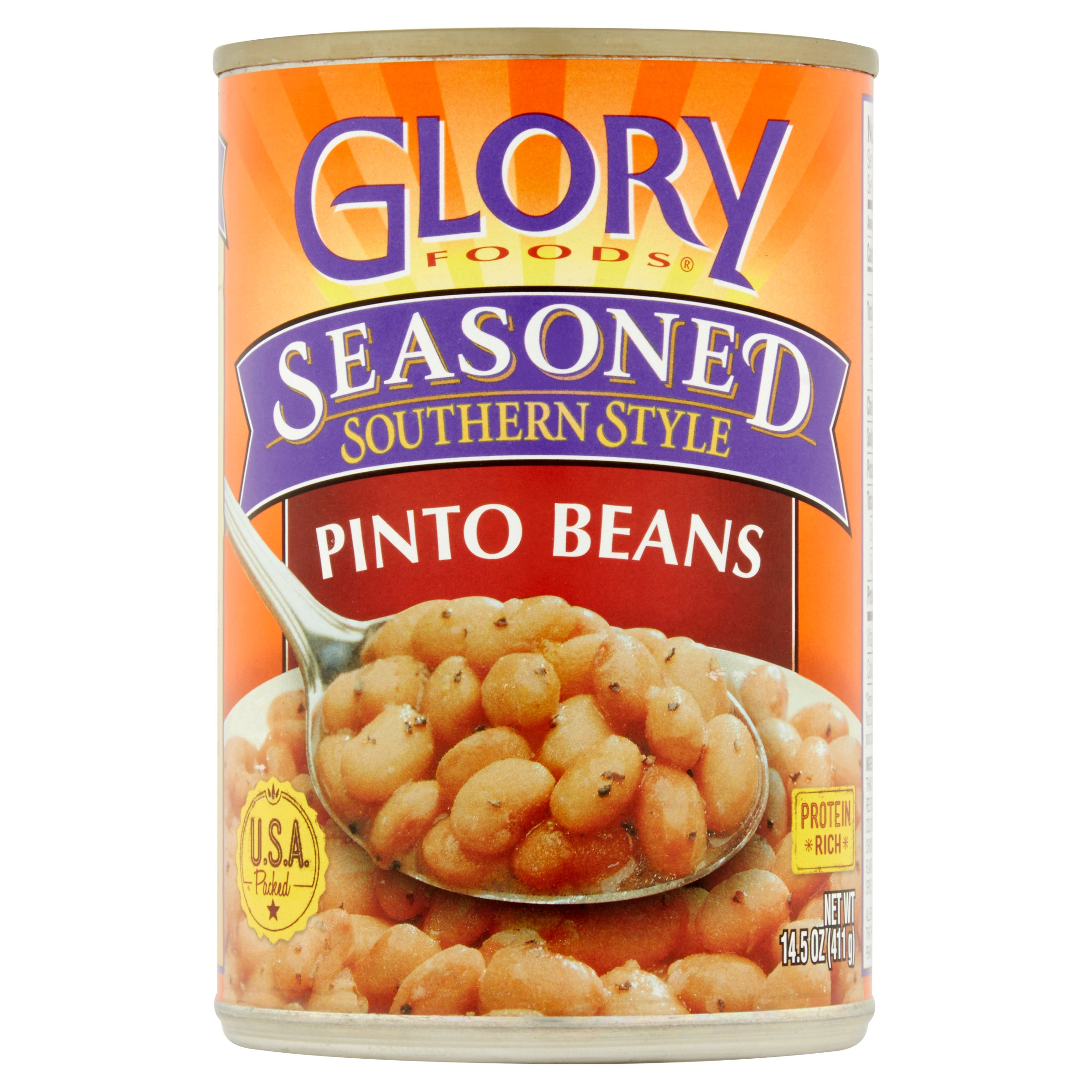 Glory Foods Seasoned Southern Style Pinto Beans, 14.5 oz