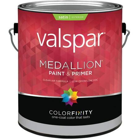 Valspar Paint 4108 1 Gallon, Pastel Base Medallion Exterior Satin Latex House Paint