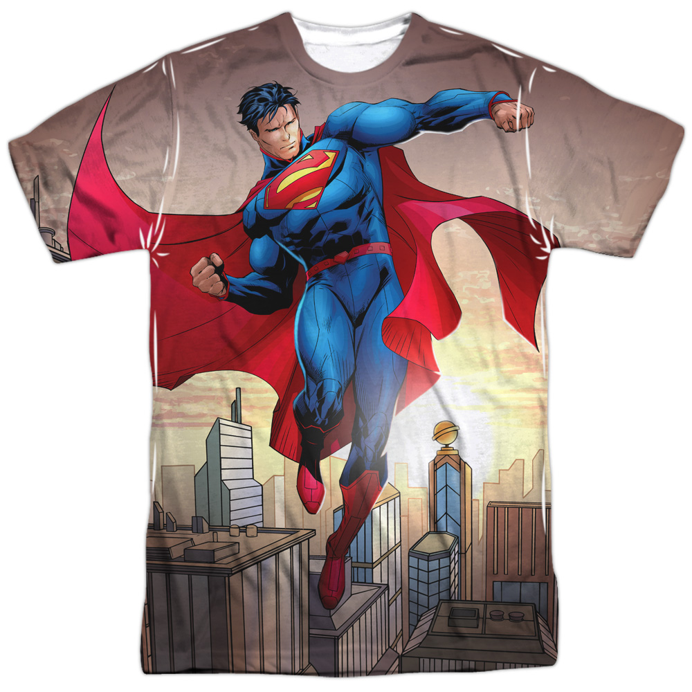 Superman Men's  Light And Darkseid Sublimation T-shirt White