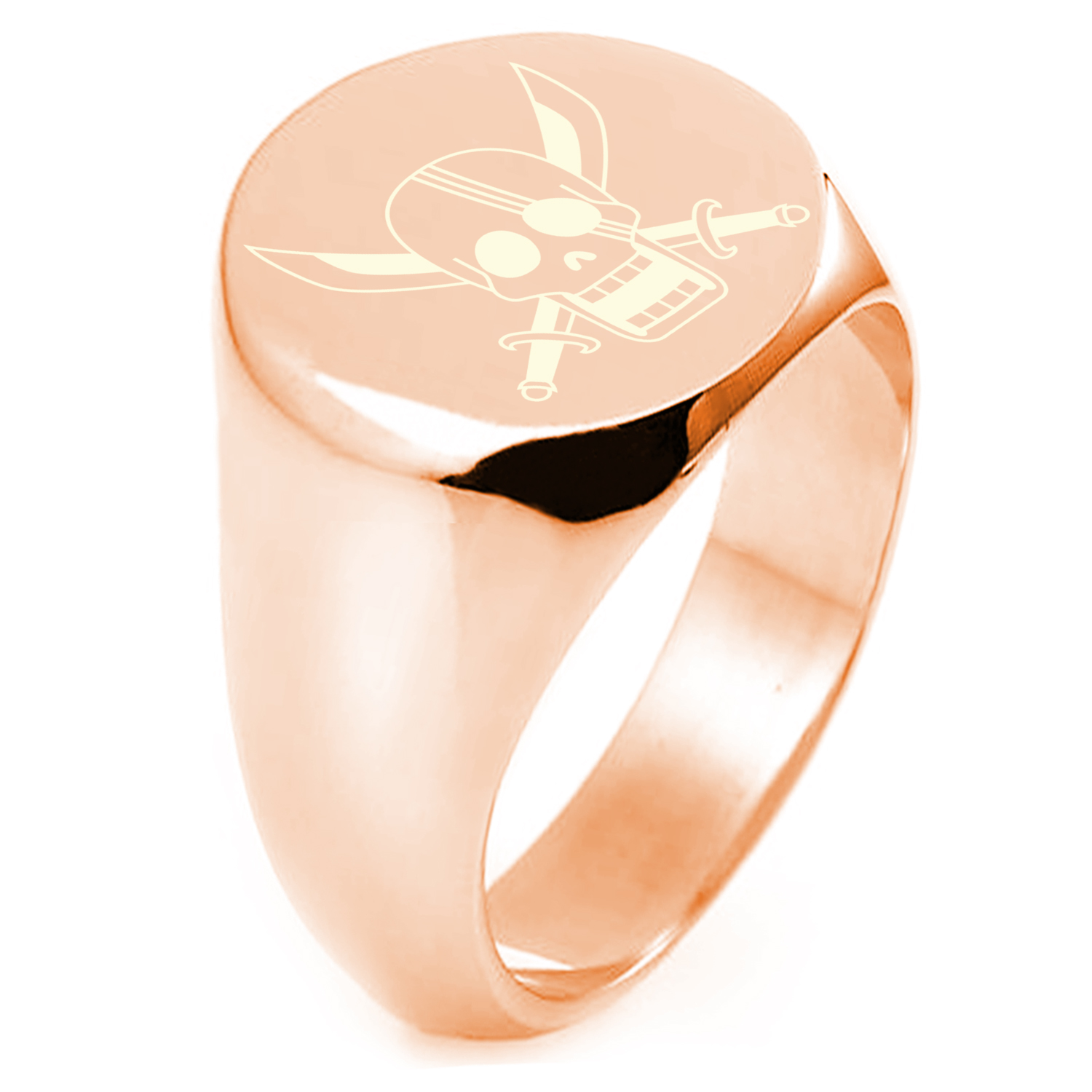 Rose Gold Plated Sterling Silver One Piece Red Hair Shanks Pirate