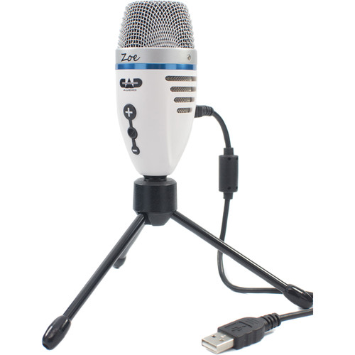 USB Condenser Recording Microphone with TrakMix Headphone Output