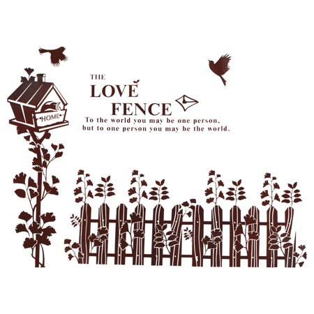 (Fence Bird Cage  PVC Removable Wall Sticker Art Mural Decal Wallpaper)