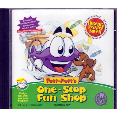 Putt-Putt's One Stop Fun Shop CDRom - Classic Putt Putt fun - Design & print your own (One Stop Planner Cd Rom With Test Generator)