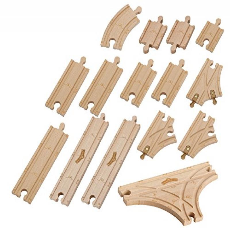 TOMY Chuggington - Chuggington Wood Expansion Track Pack (15 Pieces) - Lct56910