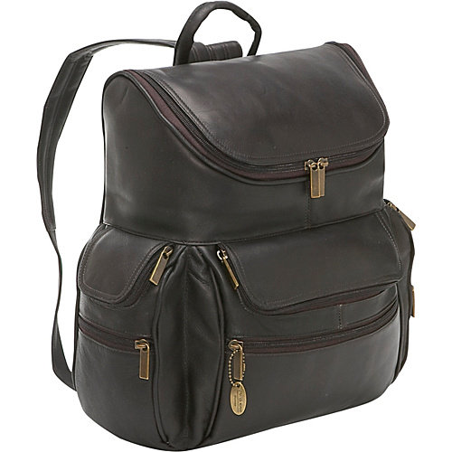 David King Leather 353 Multi Pocket Backpack