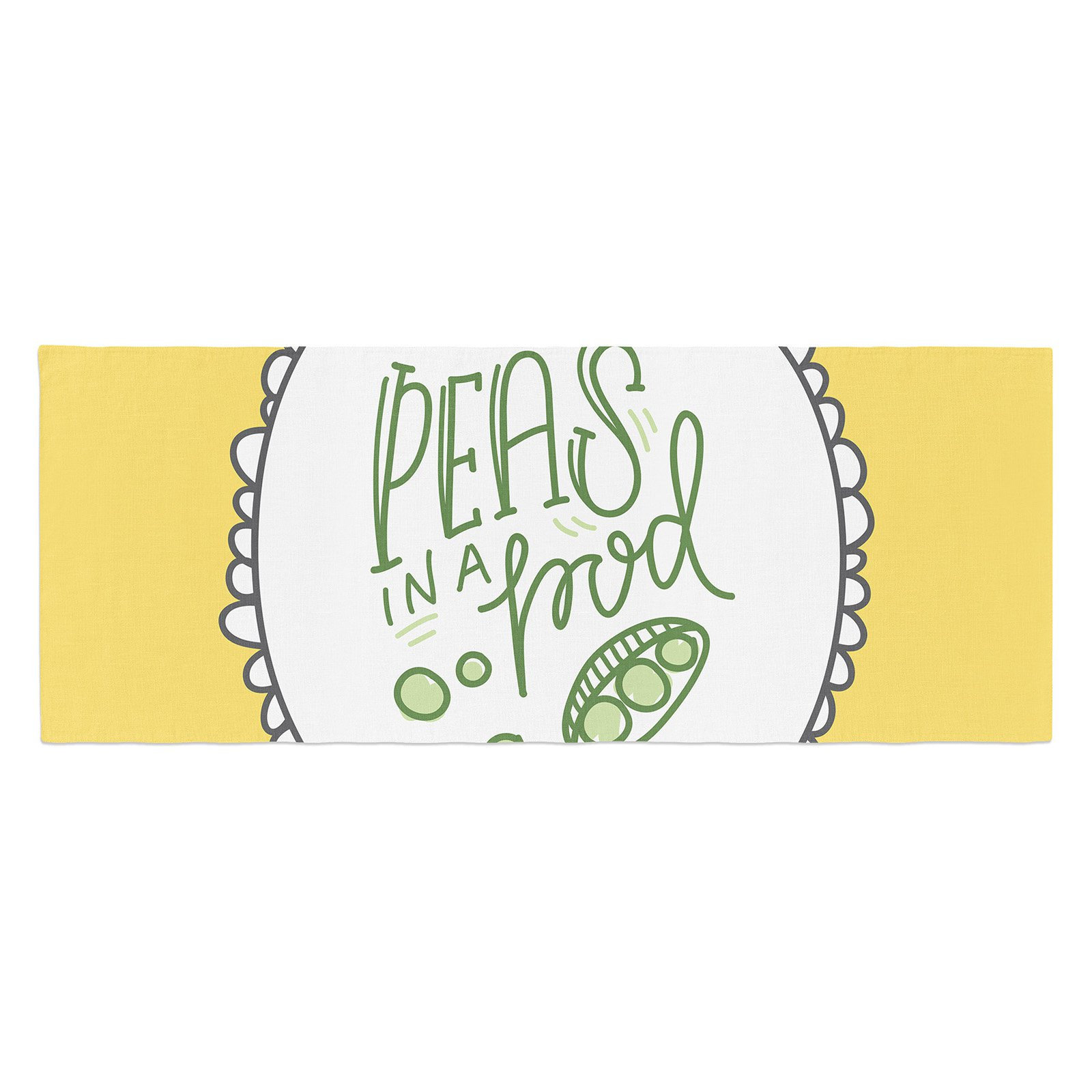 Busy Bree Peas in a Pod Bed Runner by Kess InHouse