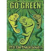 Go Green Environmental Awareness NCE Decorative House Flag