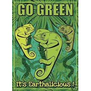 Go Green Environmental Awareness NCE Decorative House Flag