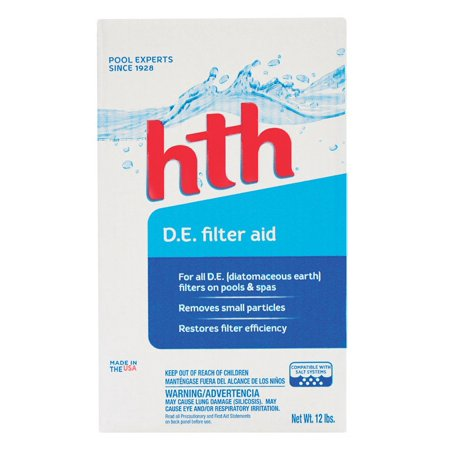 - Hth 67072 Diatomaceous Earth Filter Aid, 12 lb