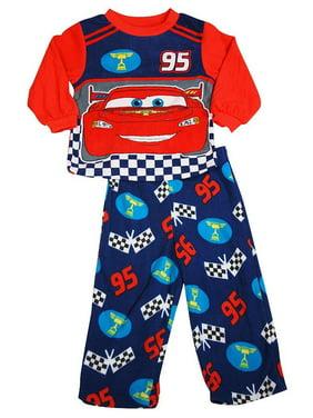 85e451f6a0 Product Image Disney Cars - Baby Boys Long Sleeve Fleece Cars Pajamas RED    24 Months