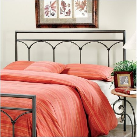 Hawthorne Collections Queen Metal Spindle Headboard in Brown