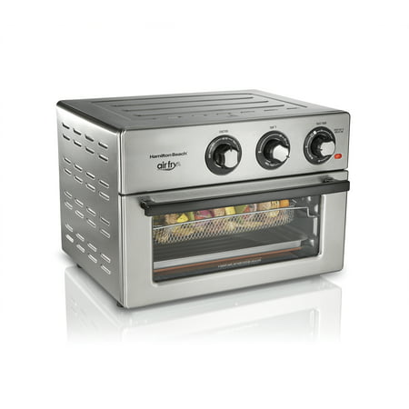 Hamilton Beach Air Fry Countertop Oven, 6 Cooking Functions, Classic Silver Finish, 31225