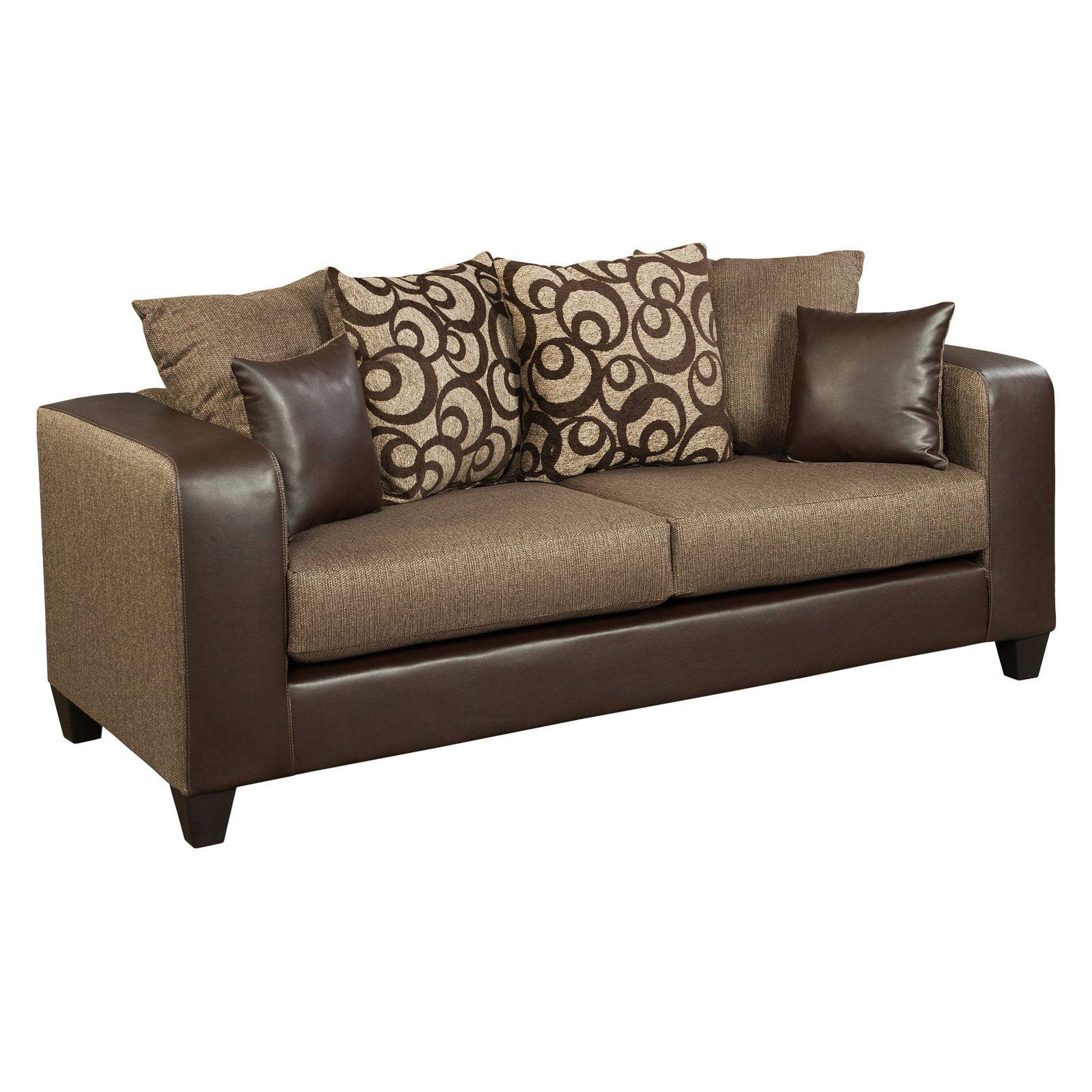 Flash Furniture Riverstone Object Chenille Sofa - Espresso