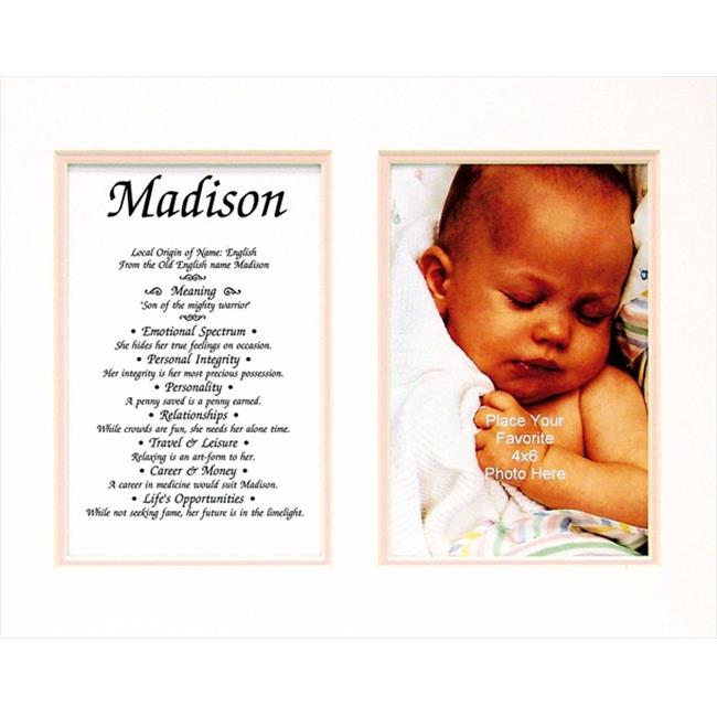 Townsend FN02Perla Personalized Matted Frame With The Name & Its Meaning - Perla