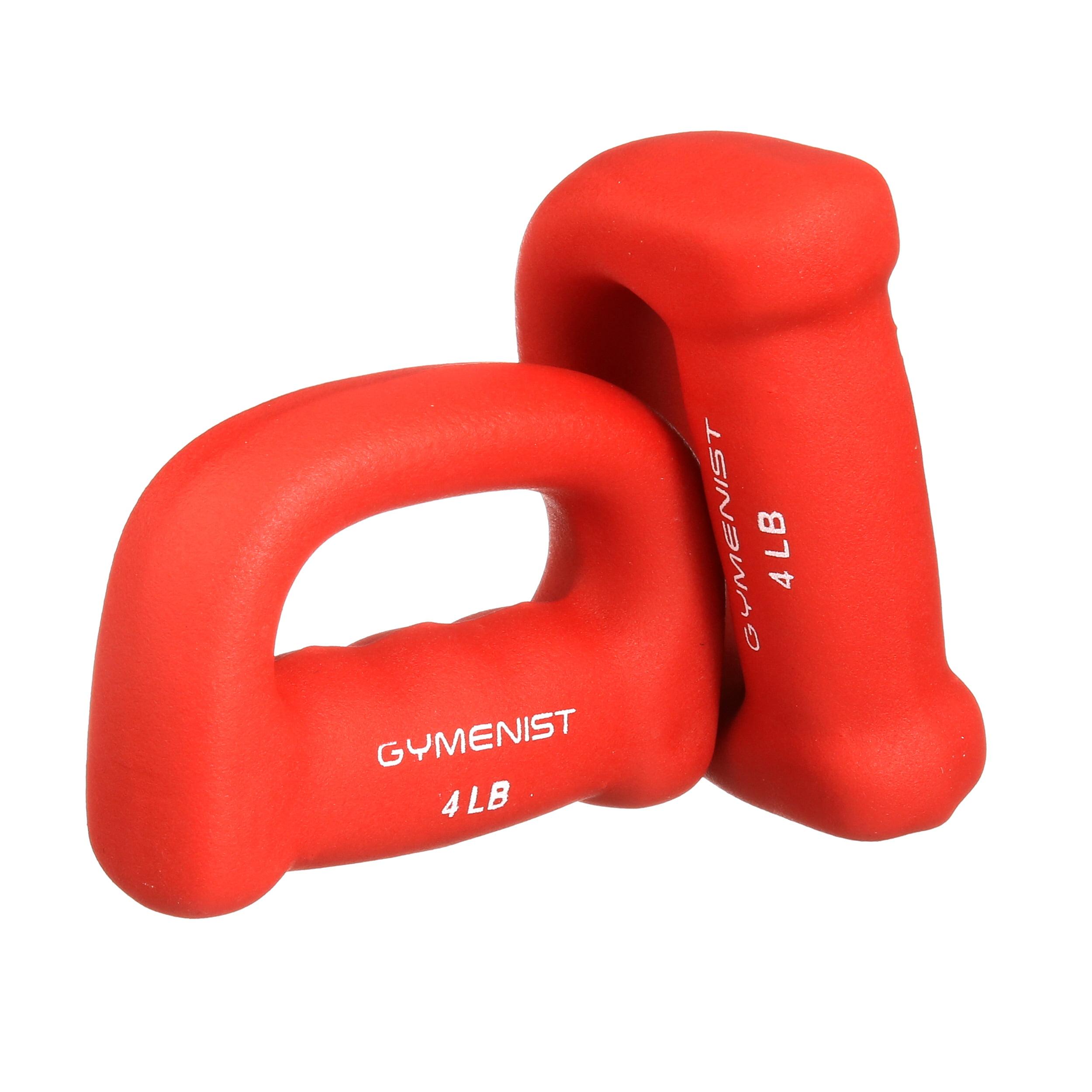GYMENIST Set of 2 Hand Shaped Neoprene Exercise Workout Jogging Walking Cardio Dumbbells Pair
