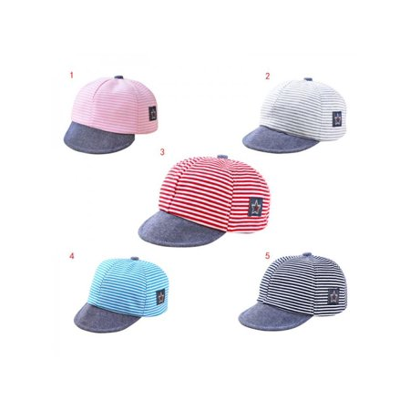 Lavaport Spring Baby Unisex Sport Outdoor Striped Baseball Hat Caps For 0-12M ()