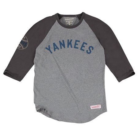 """New York Yankees MLB Mitchell & Ness """"Top of the Inning"""" Mens 3 4 Sleeve Shirt by"""