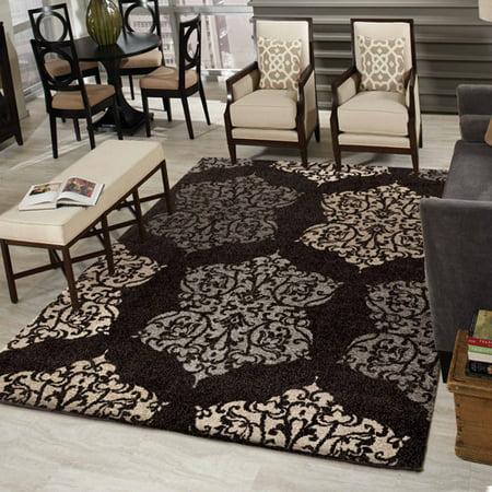 arrington black area rug 3 39 11 x 5 39 5. Black Bedroom Furniture Sets. Home Design Ideas