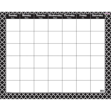 Trend Enterprises Moroccan Wipe-Off Calendar (1 Piece), 22