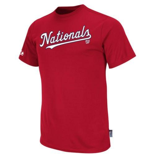 Washington Nationals Replica Baseball T-shirt 100% Cool Mesh Fabric - Adult