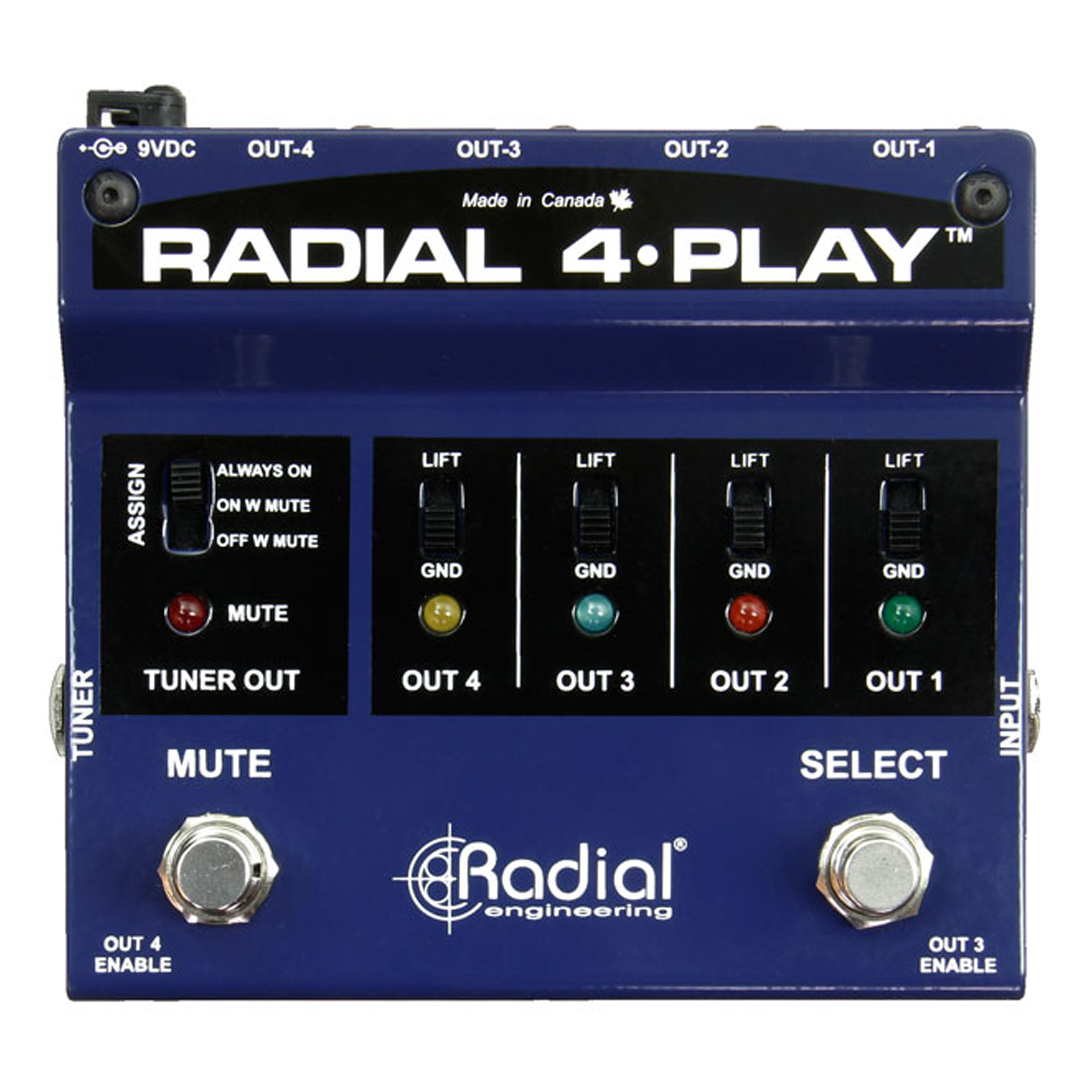 Radial 4-Play Multi-Output Direct Box (4-Play Multi Instrument DI) by Radial Engineering