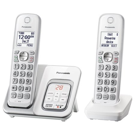 - Panasonic KX-TGD532W Expandable Cordless Phone with Call Block and Answering Machine - 2 Handsets (Refurbished)