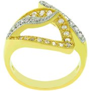 Sunrise Wholesale J3240 05 Two Tone 14k Gold and White Gold Rhodium Bonded Fashion Visible Luxury Ring