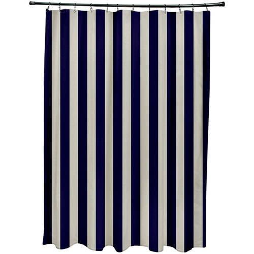 "Simply Daisy 71"" x 74"" Stripe Print Shower Curtain"