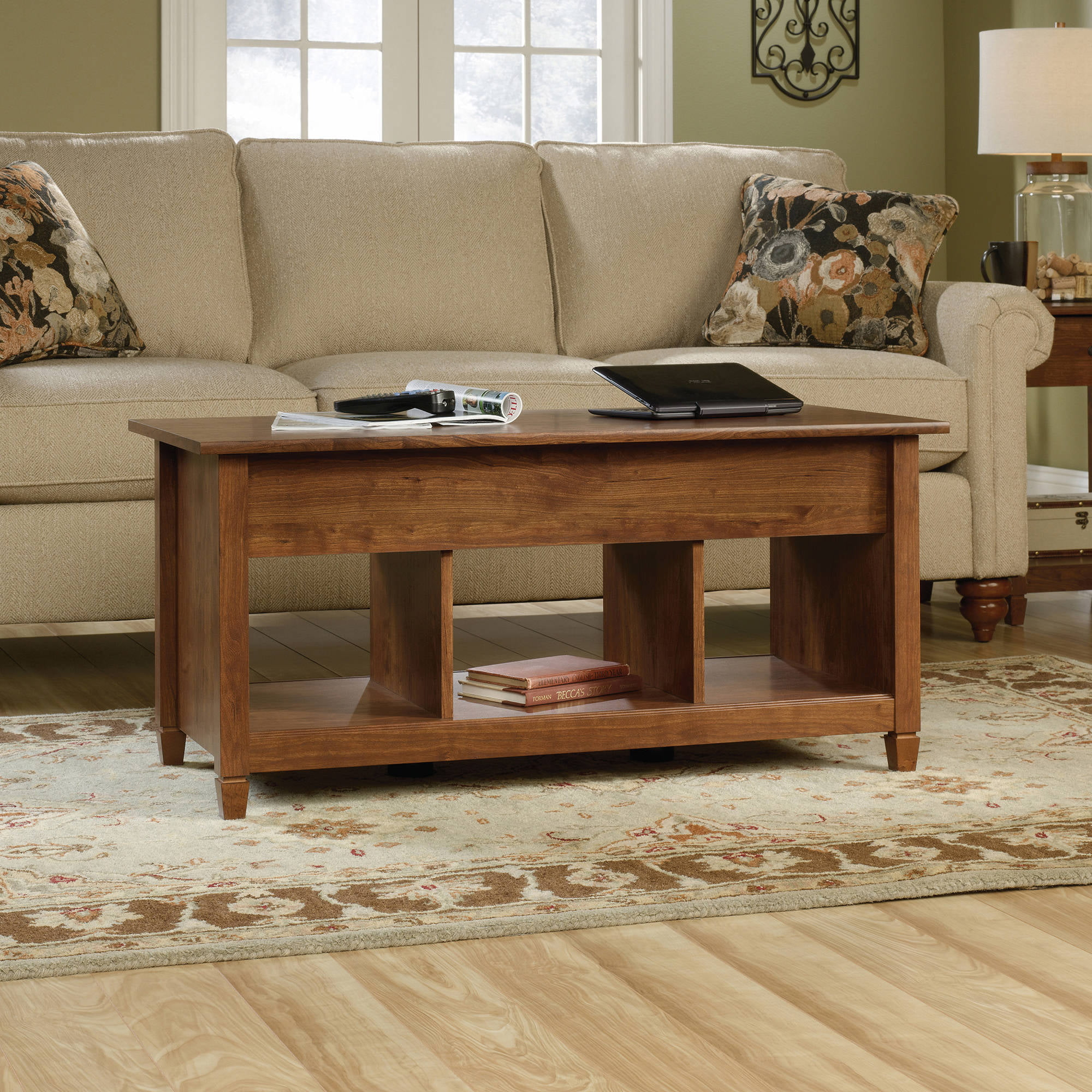 Ashley Mallacar Rectangular Coffee Table in Black Walmart