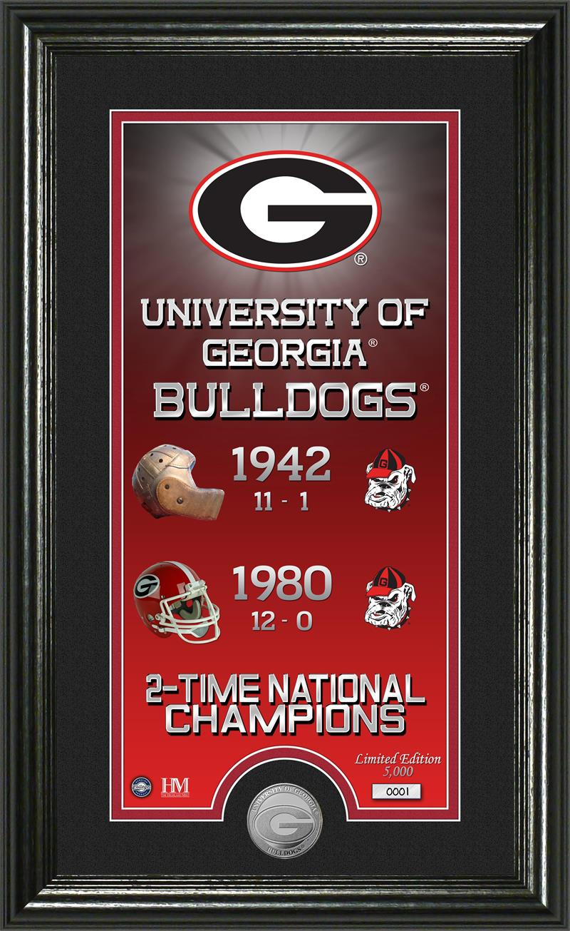 Georgia Bulldogs Legacy Supreme Minted Coin Panoramic