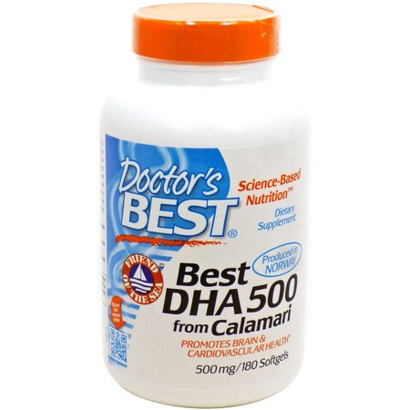 Doctor'S Best DHA 500 from Calamari, 180 Ct (The Best Dha Supplement)