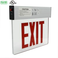 Ainfox LED Exit Sign Emergency Lighting 120V/277V AC Dual Voltage Operation Red Letters