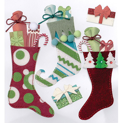 Jolee's Christmas Stickers, Stuffed Stockings
