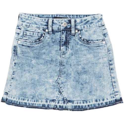 Jordache Girls' Released Frayed Hem Denim Skirt
