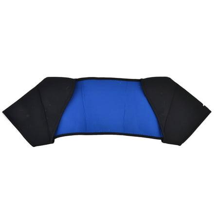 Men Neoprene Double Sided Sport Shoulder Protector Support Brace Black Blue